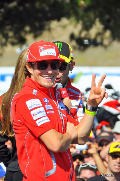 """Because it's the USGP, and because Nicky Hayden has won here (OK, it was on a Honda but there wasn't a dry eye in the Ducati tent when he did it, he's always been """"our guy in Motogp"""" to the US fans) this is Nicky's weekend. Kentucky may be home but he's Ducati Island's homeboy"""