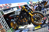 This was just off Island at the Pro Italia booth.  That's Alonzo Bodden's tricked out Superbike turned Streetfighter.  You may have seen it on the Cafe Racer tv series