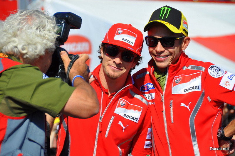 First order of business was to pose for the official MotoGp photographer