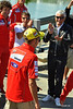 Valentino Rossi made his first Island vist, that's Ducati CEO Gabriele Del Torchio welcoming him to Ducati Island