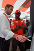 One thing about Ducati Island is that under all the relaxation and fun there's some serious opportunity to learn a thing or two from the best experts in the business. Here Austin Gray, Ducati's Technical Director spends time explaining Ducati technology to a Ducati owner