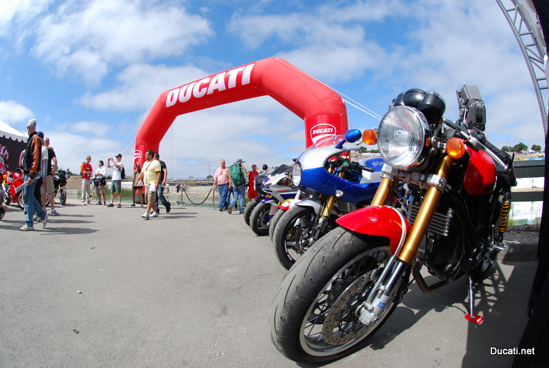"Ducati space is clearly defined, letting you know ""it's different here"""