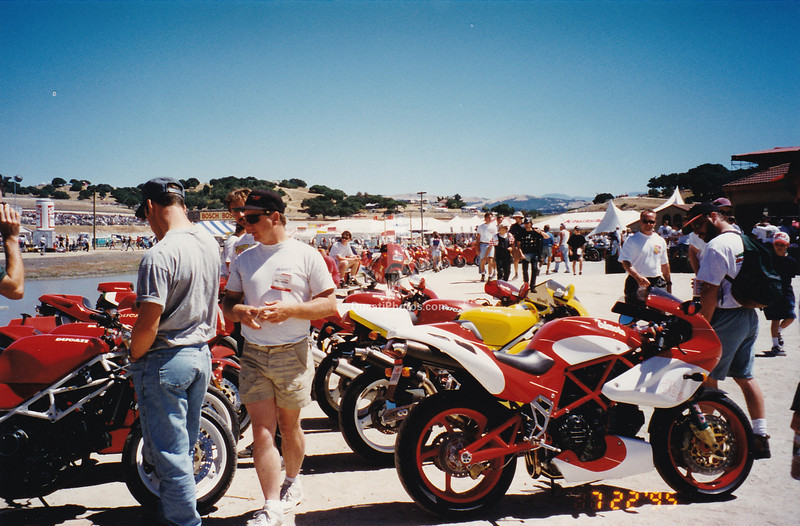 We were Bimota dealers so they were still part of the fold and invited on island