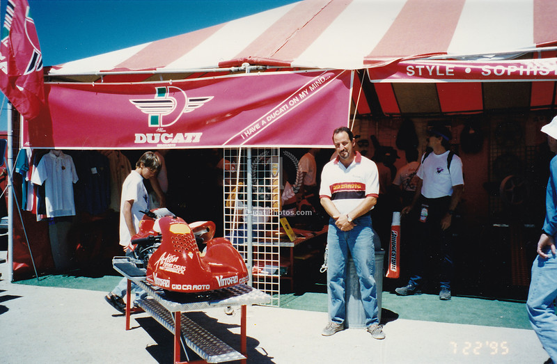 That's Rodney, one of the owners at Action Sports Cycles, the company I was a partner in. We were also  the Gio.Ca.Moto Importers. Gio.Ca.Moto was eventually bought by Ducati and it became what is now -  the official parts arm of the company, Ducati Performance.