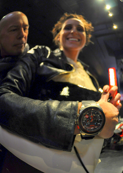 Look close and you would see lots of cool stuff. That's the brand new Ducati Watch by Binda