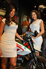 First thing you see?  The Peroni girls. Welcome to Ducati New York.