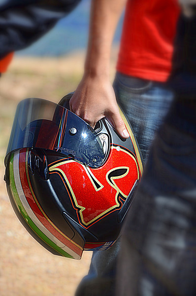 Some Pikes Peak details -  Cool helmets are important. It's a thing.