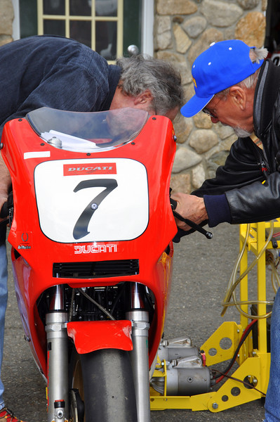 Many TT's have no starter motors so the rollers stayed busy