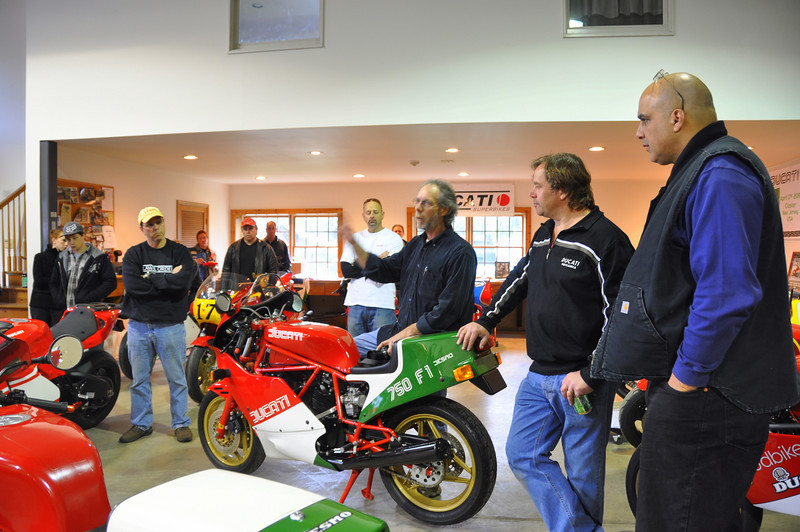 """In the middle of the day Lou and Ralph announced the DOCC 2011 TT track event at Mosport and the Official  TT 30th Anniversary celebration to be held at Barbers Vintage.  I am organizing that one with Lou and Ralph and Barbers so save the date, finish up those project Ducs and plan on being at Barbers in October 2011! <br /> For more on the DOCC event and Steve Munro's excellent coverage of this day:<br />  <a href=""""http://loudbike.blogs.com/loud_bike/2010/04/it-was-a-dark-and-stormy-night.html"""">http://loudbike.blogs.com/loud_bike/2010/04/it-was-a-dark-and-stormy-night.html</a><br /> <br />  See you there...........<br /> Vicki"""