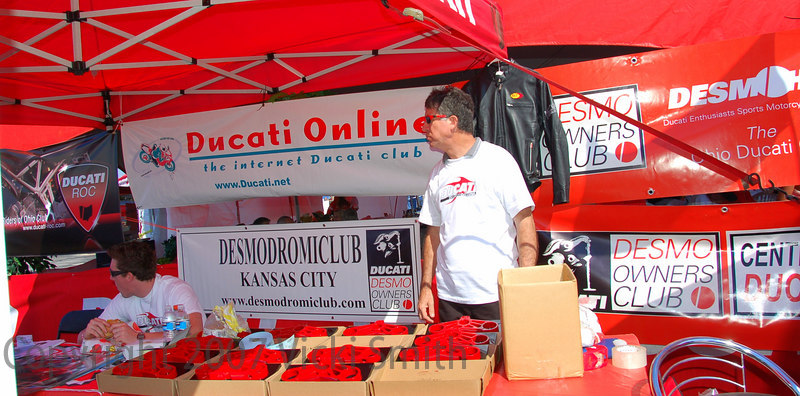 Ducati.net invites other DOC clubs to participate - this year clubs from all over the US took advantage of the offer.