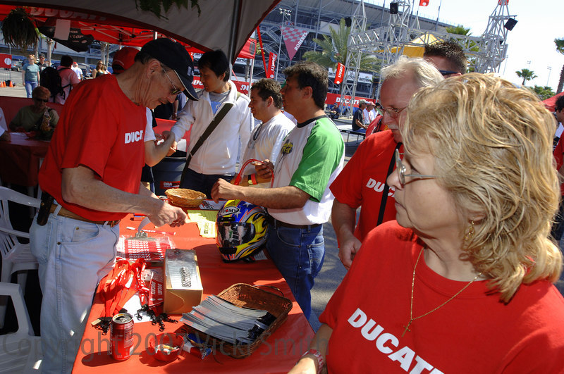 Not everybody that came owned a Ducati but if you did there was a special hospitality area with gifts and food for owners provided by Ducati North America