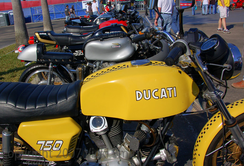 The quality and varity of Ducati's displayed was astounding