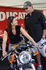 Ducati North America had a full line of bikes to sit on and staff on hand to answer questions