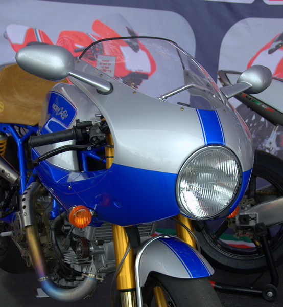 Lights, mirrors, ACTION! NCR brought te street legal version of New Blue along with the rest of their drool inspiring lineup