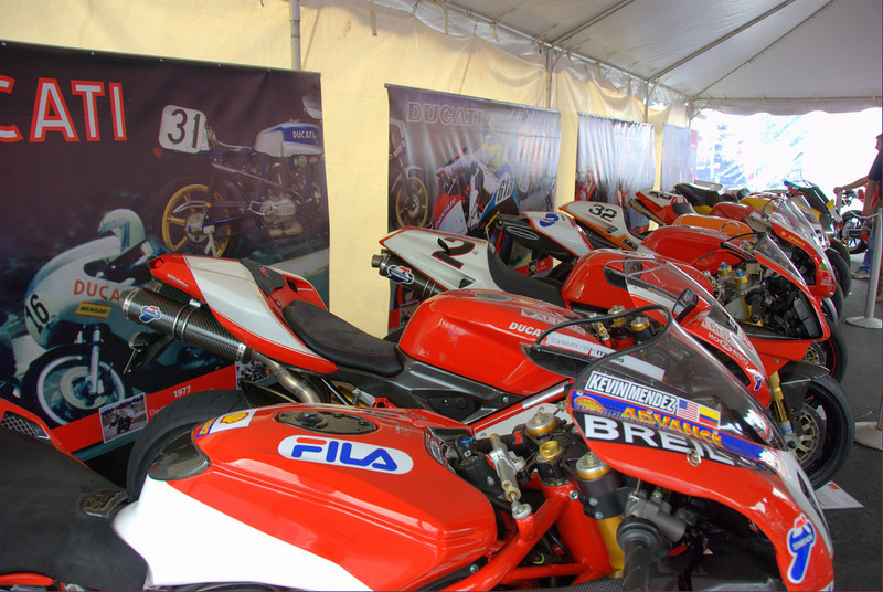 Pretty Superbikes all in a row