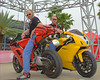 These guys arrived in Daytona for the Superbike Concorso from Kansas City by riding a 1600 mile Iron Butt rally in weather that was as cold as 17 degrees.  They jointly took home the Passion Award for obvious reasons.