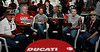 By mid afternoon the rains had found us so the bike show award ceremony was in the Ducati Hospitality tent<br /> <br /> Steve Leaukanech Photo