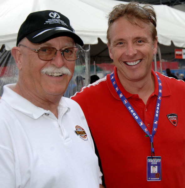 Brian Slark of the Barber Museum and Jeff Nash from Advanced Motorsports were judging both the Superbike Concorso and the DDD bike show<br /> <br /> Steve Leaukanech Photo