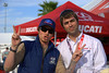 Roland Sands spent a lot of time on the Island. Here he is with Alex Dunstan of Ducati North America