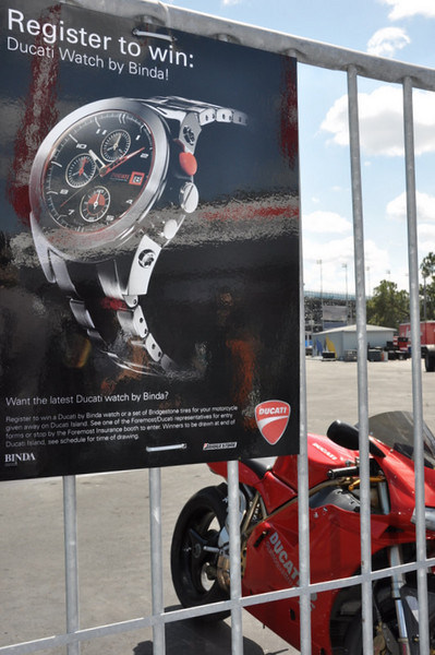 Binda had a giveaway, they make the Ducati watches,  nice to win one of those!