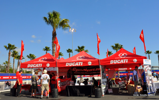 That's Ducati.net, Cycle News and Foremost Insurance, just a few of the displays on hand