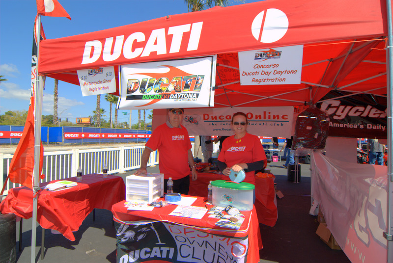Want to win great free stuff, this was the place! Generous donations from Ducati North America,Desmodromiclub of Kansas City, Pure Ducati , Ducati Daytona, Coastal Ducati Club, Lady Ducati DOC (thanks Silvio!), Hoosier Hooligans, NEDOC, EMS, NPR Ducati, Rhinomoto, SHIFT-TECH, and USDESMO DOC made the day for a lot of party goers. (Huge thanks for the ongoing support)