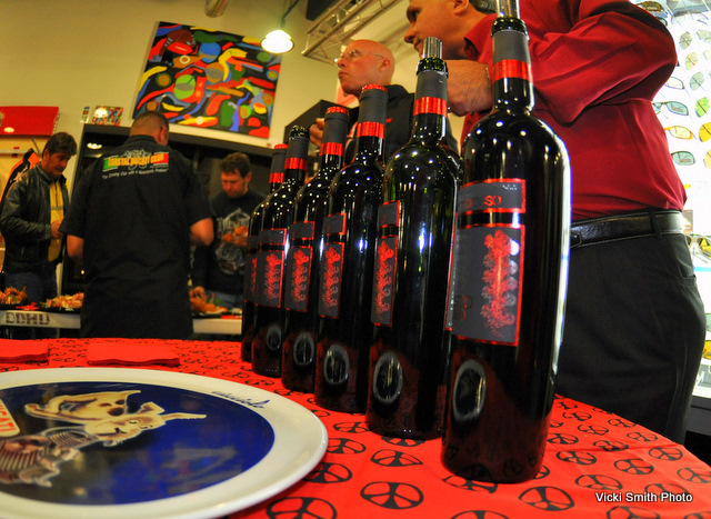 And some of that Desmo Rosso Ducati wine I am so very fond of