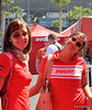 These ladies were Desmo Rosso's contribution to the crowds happiness
