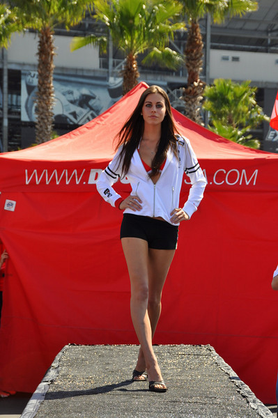 Next up, the ever popular Ducati Island Fashion Show
