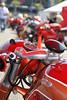 The vintage display included this 1957 Ducati 175SS single