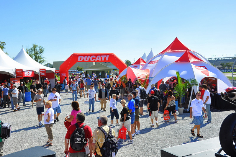 Lots of last minute shopping, still time to check out the Ducati Performance area, and get answers to any questions you might have from Ducati's senior staffers who are on the island all weekend