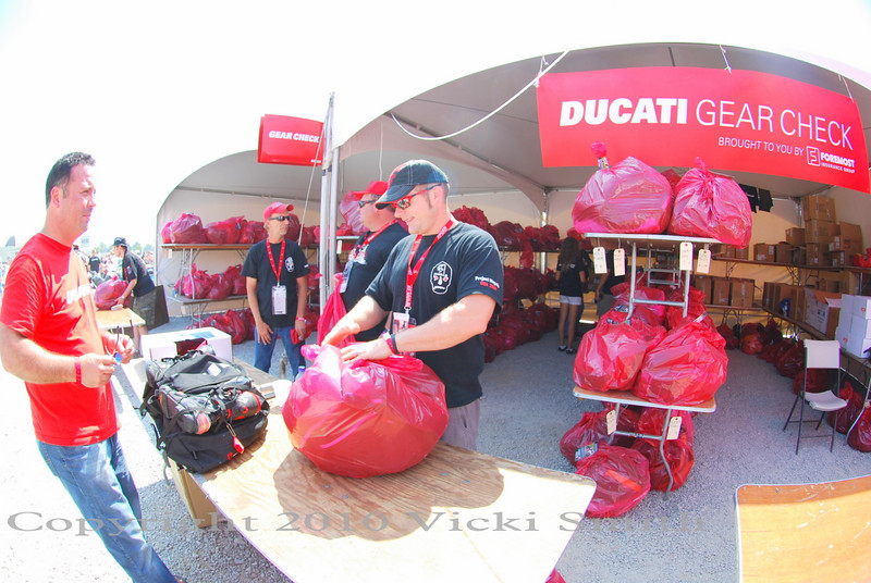 And then stop at gear check to park your gear with the friendly volunteers of Team Ducatisti. It takes close to 90 volunteer staffers/Ducati owners to make this Ducati Island's gears turn, and they do it flawlessly year after year, hurricane or 100 degree heat. What a remarkable group.