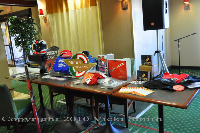Lots of giveaways donated by supporting clubs, dealers and business's