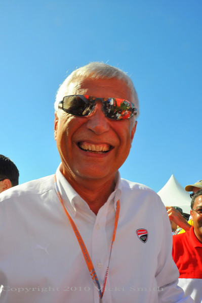 Ducati CEO Gabriele Del Torchio makes the trip and is a huge part of the weekend