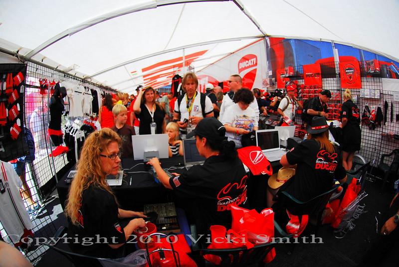 Back on the Island, it's busy in the SO CAL store, the large selection of Ducati clothing makes it pretty easy for everybody to find something they can't resist