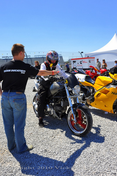 Take a free Ducati parking puck.......