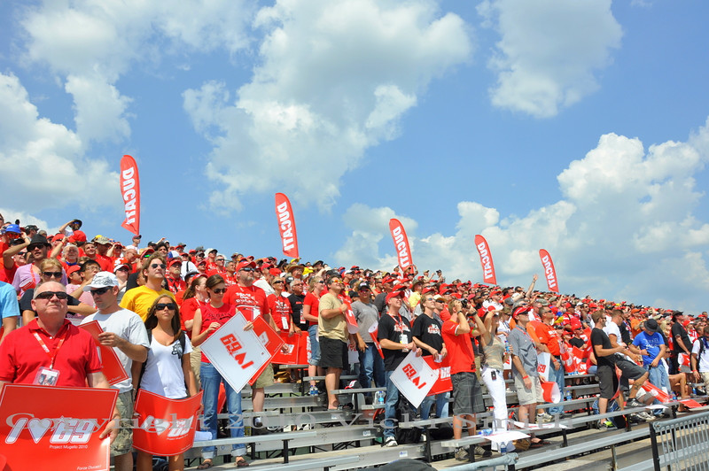 People are starting to take thier seats in the Ducati grandstand