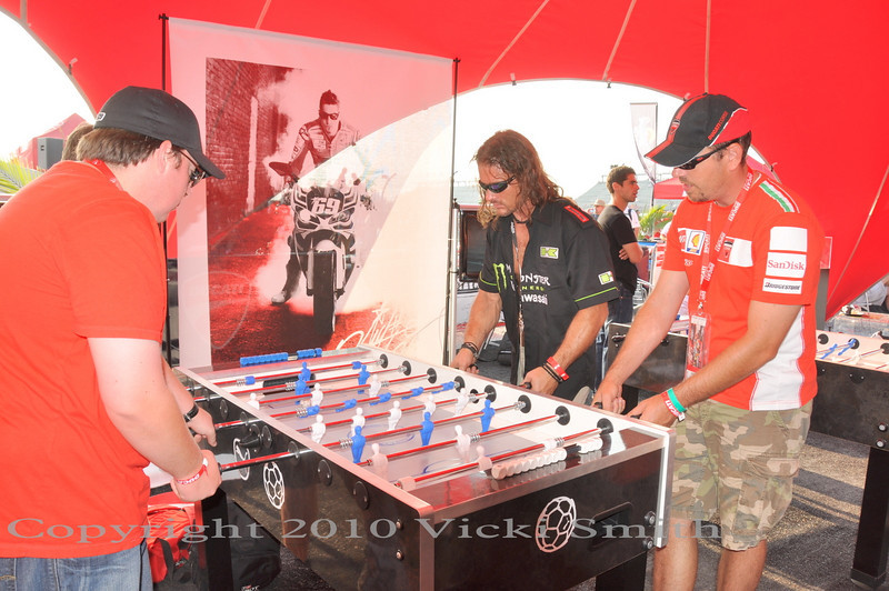 Maybe play some foosball, get in some practice for tomorrow's tournament