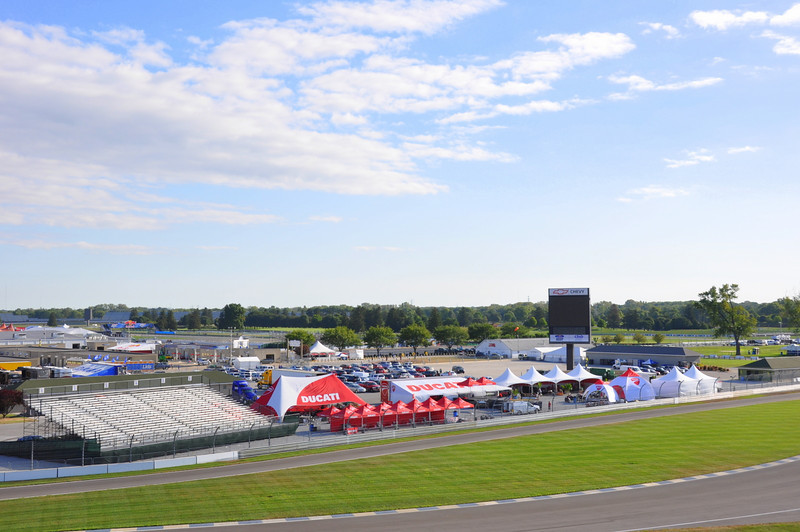 The weekend is a busy one. IndyGP hosts a huge Ducati Island corporate area and an endless series of Ducati themed events over the 4 days, from morning to night. It's practically heaven for Ducatisti