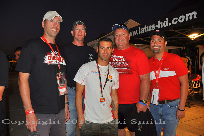 That's Marco Melandri with the Ducati Omaha crew