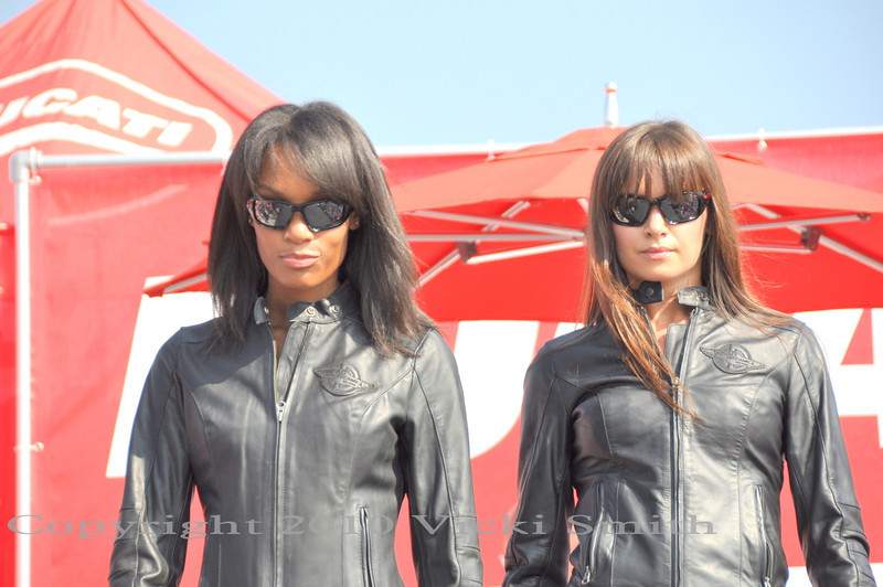 On Saturday the Ducati fashion show is rocking the house