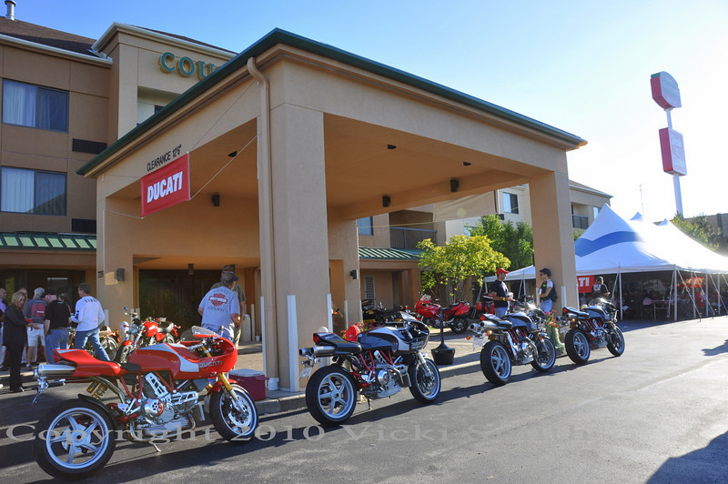 For the full effect, you really need to stay at the main Ducatisti hotels, Ducati dormatory's for the weekend where beginning at breakfast and on late into the night every guest  is a Ducatisti and strangers have everything in common.