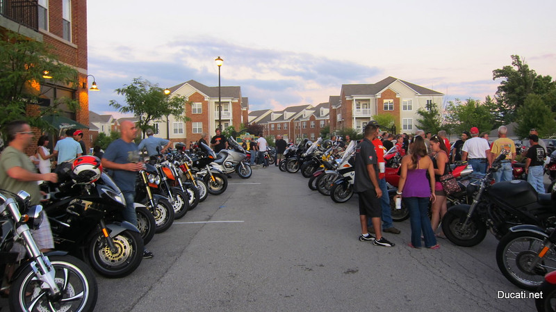 "IndyDesmo DOC and Ducati Indy call this ""Euro"" bike night theirs, and tonight it was hopping."