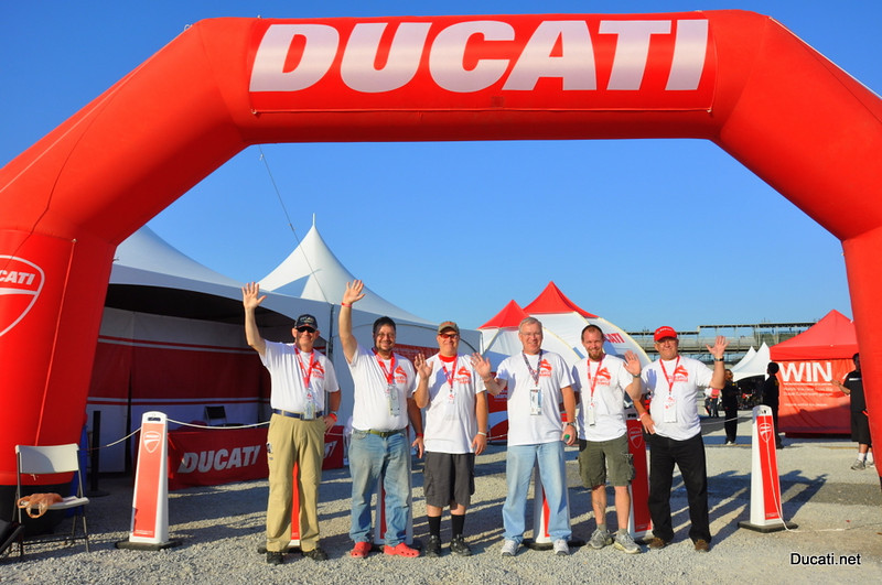 First light on Ducati Island and this is who you see - Team Ducatisti, the engine that runs Ducati Island