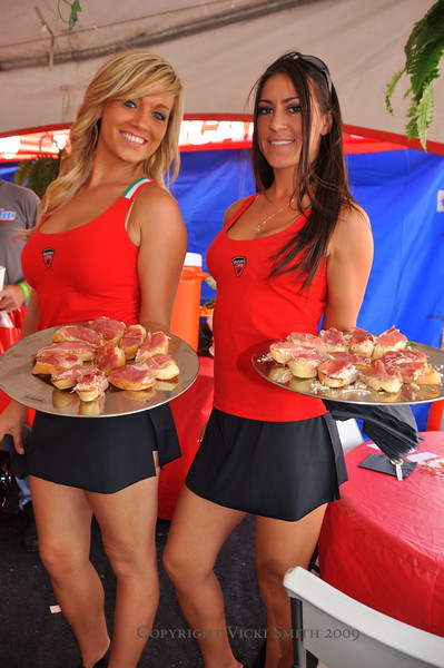 Ducati hospitality is well know but at Indy it reached a new level