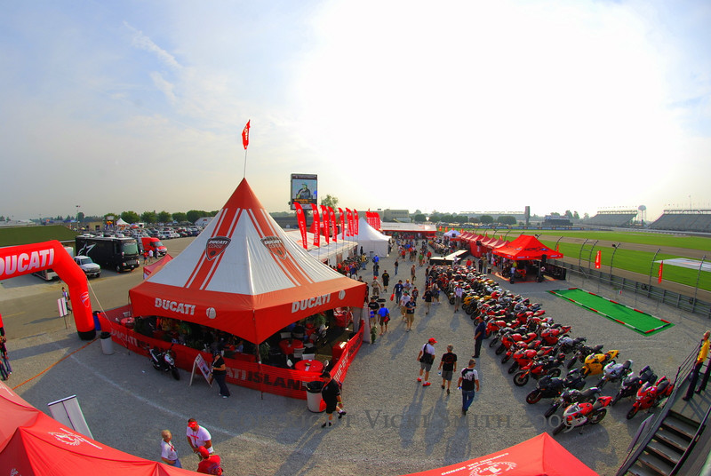 9 am Friday morning and Ducati Island was filling up fast