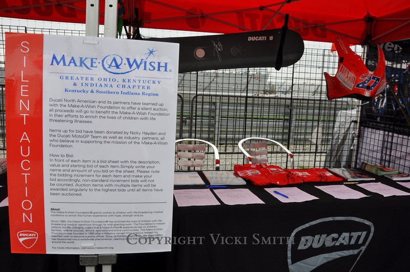 Make A Wish foundation is a personal favorite of some of the racers, including Nicky Hayden