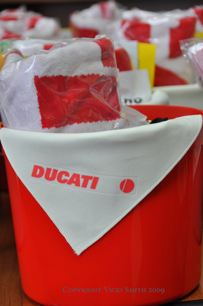 First thing you see when you check into your room?  Something like this.  Indy loves Ducati owners as much as we love Indy