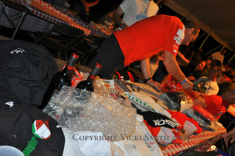 The donations came from a number of clubs and vendors and included Ducati DesmoRosso wine, carbon fiber pieces and more