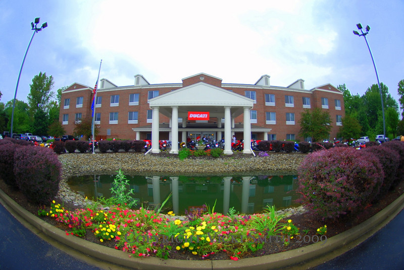 """On the North side of town near Ducati Indianapolis are the """"DOC Central Hotels"""". This one was 100% rented out by Ducati owners"""